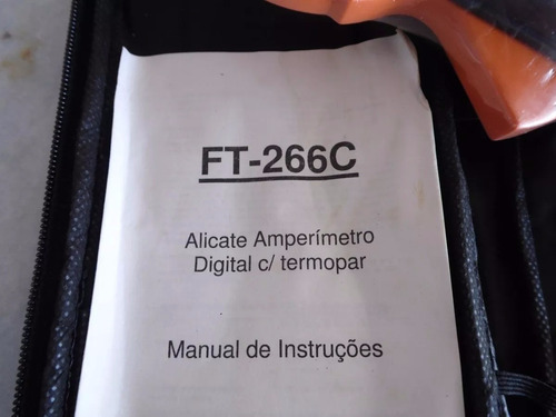alicate amperímetro e multímetro digital temperatura estojo