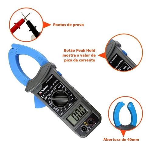alicate amperimetro multimetro digital minipa - et-3111