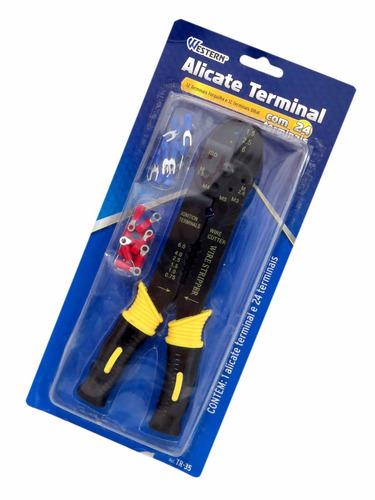 alicate c/ 24 terminais prensa terminal western