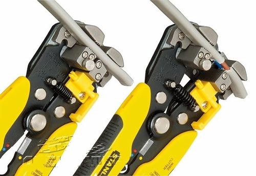 alicate crimpador desencapador fios cabos stanley 96-230