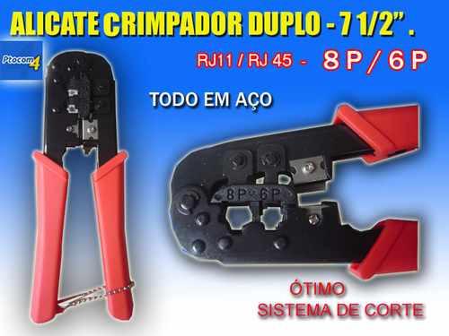 alicate crimpador duplo - rj11 / rj 45  frete grátis.