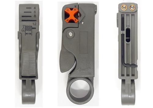 alicate crimpar conector coaxial + decapador
