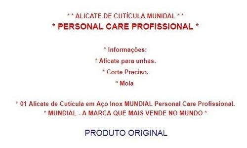 alicate cutícula mundial personal care profissional aço inox