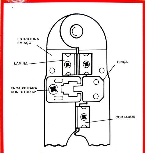 alicate de crimpar conector rj11 crimpagem