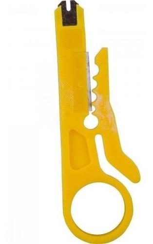 alicate de crimpar / crimpagem cabo de rede / telefone - rj45 rj12 ou rj11 + desemcapador chave keystone