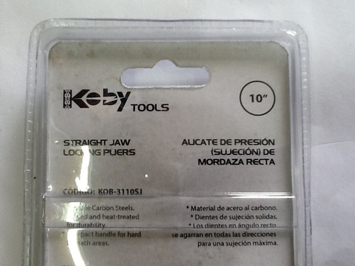 alicate de presión 10  mordaza recta koby tools
