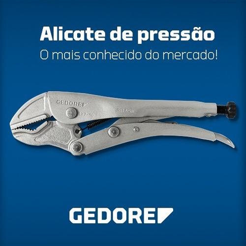 alicate de pressão gedore 10'' mordente curvo 137-10 029010