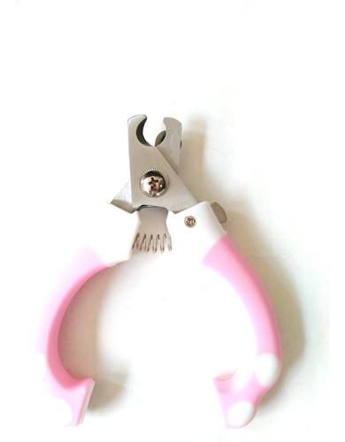 alicate de unhas para gatos cães pets higiene cortador rosa.