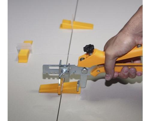 alicate nivelador piso cortag+50cunhas+100 espaçadores 1,0mm