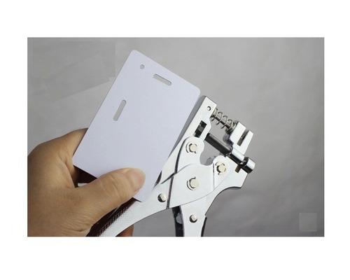 alicate perfurador furador de cartão e crachás em pvc 2 em 1
