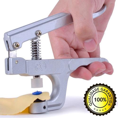 alicate pregar botão pressão + 200 pares ritas e agulhão