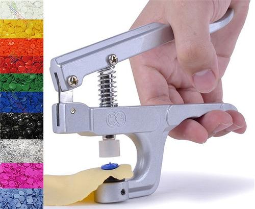 alicate pressão pregar botão 10 12 15 + 200 ritas plástico