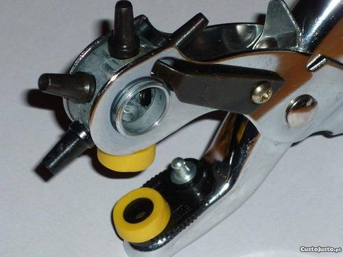 alicate vazador chinelo couro bolsa eva botão de pressão
