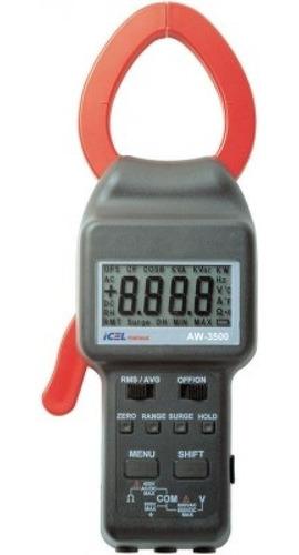 alicate wattimetro amperimetro digital icel ac dc true rms