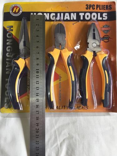alicates kit 03 peças para artesanato alta resistêcia