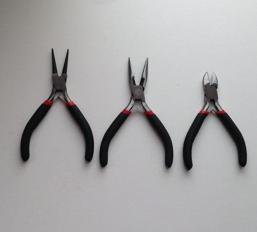 alicates plano, punta, redondo manualidades bisutería