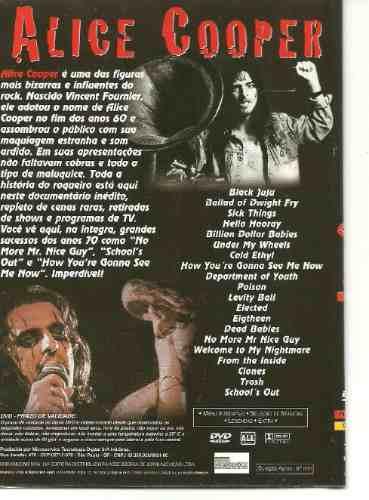 alice cooper documentário - 20 sucessos dvd
