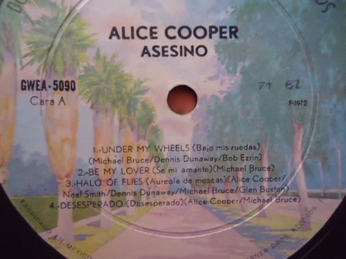 alice cooper / killer (asesino) vinyl lp acetato