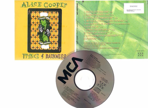 alice cooper  -  prince of darkness -  cd - by maceo