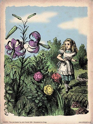 Alicia En El Jardín De Las Flores De Las Maravillas Cartel