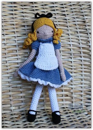alicia en el país de las maravillas - elida a crochet