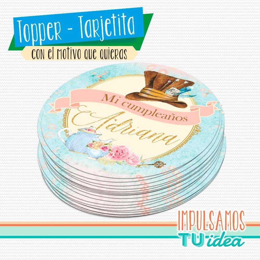 Alicia En El País De Las Maravillas Topper Imprimible - $ 66,00 en ...