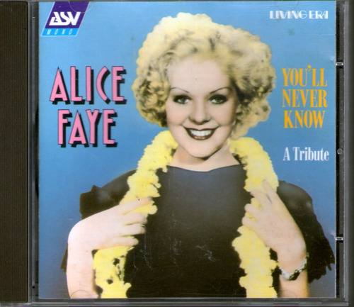 alicia faye - you´ll never know - cd