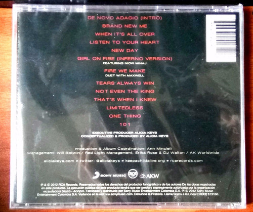 alicia keys album girl on fire cd original y nuevo