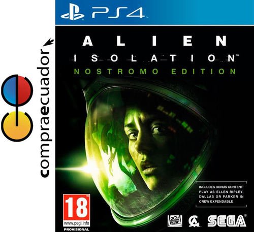 alien insolation nostromo edition ps4, juego original sellad