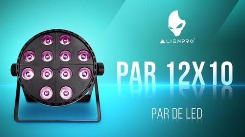 alien pro par 12x10 rgb + uv cañon par de led 12 x 10watts