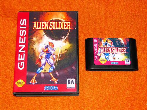 alien soldier - versão americana - tipo gunstar heroes. mega