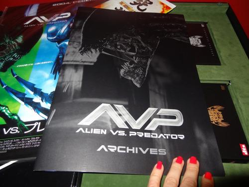 alien vs. predador avp - gift set raro numerado japonês :)