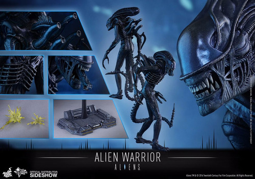 alien warrior hot toys escala 1:6
