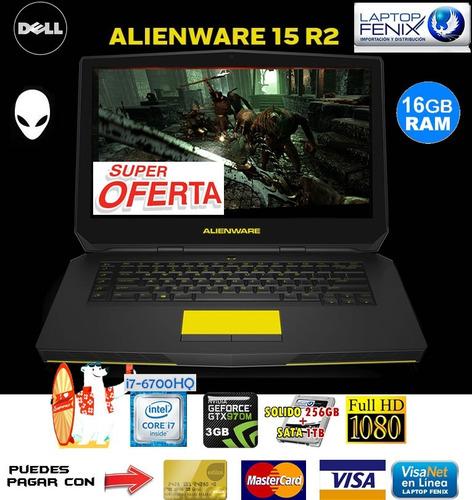 alienware 15 r2 core i7-6700hq | 16gb| 256gb+1tb |3gb gtx970
