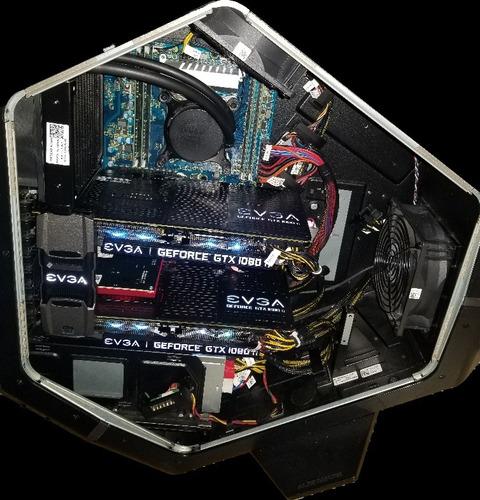 alienware area 51 i7-5960x 32gb 256g ssd gtx 1080 ti sli 22g