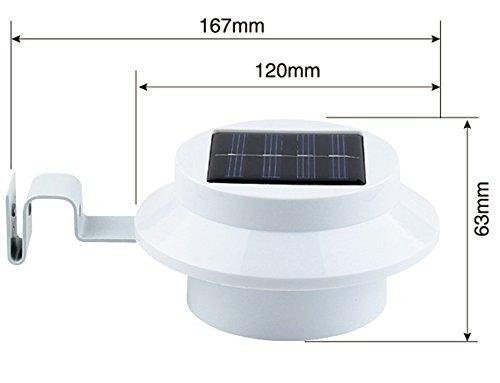 aligere glimmer 3 led solar powered energysaving valla gutte