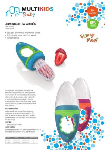 alimentador infantil seguro para bebês frutas redinha
