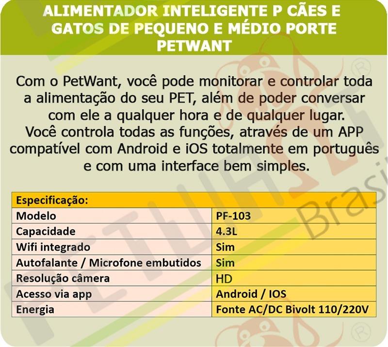 c6cb345dc Alimentador Inteligente Wifi Petnet Gatos Cães - Android Ios - R ...
