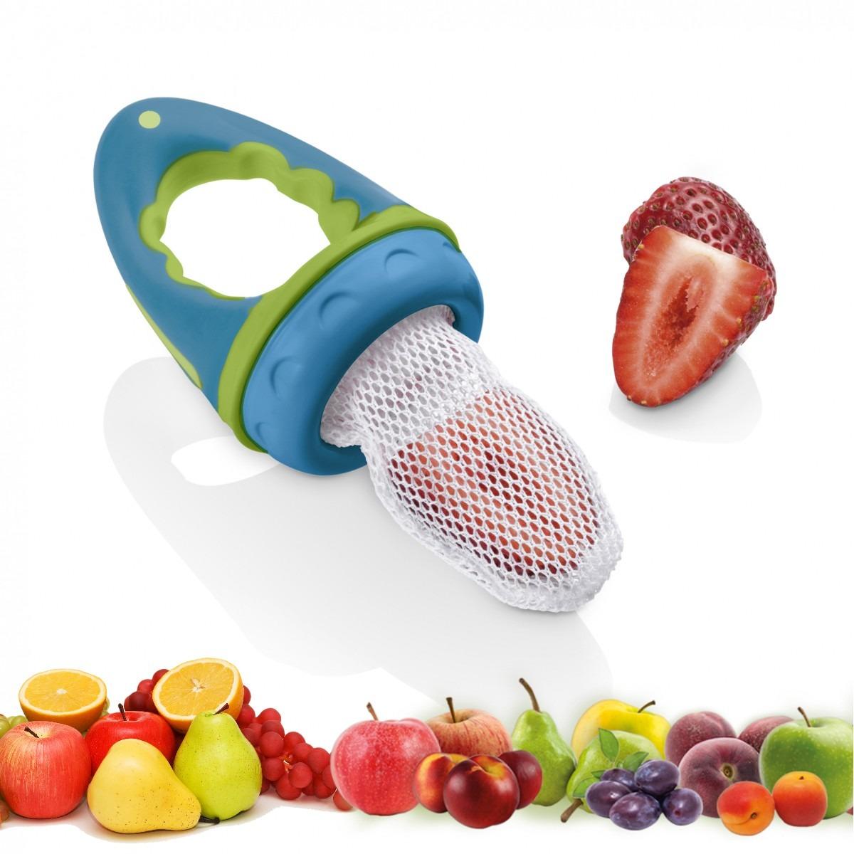 Alimentador para beb de silicone fruta carne legumes r for Comedor de frutas para bebe