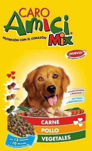 alimento balanceado caro amici mix perro x 25 kg