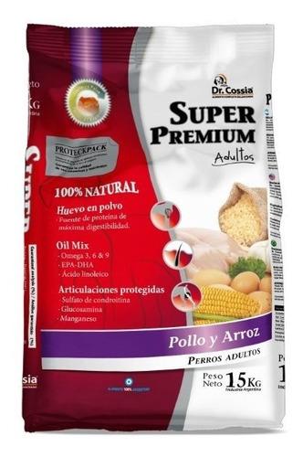 alimento balanceado dr. cossia super premium adultos x 20 kg