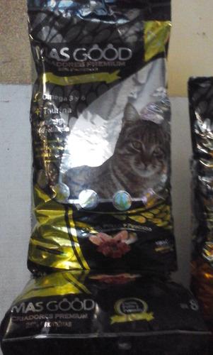alimento balanceado masgood gato criad. premium bolsa x 8 kg