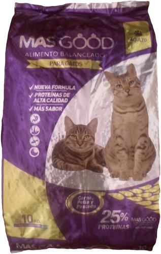 alimento balanceado masgood para gatos bolsa x 10 kg