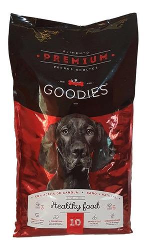 alimento balanceado premium perro goodies 3 x 10kg envio