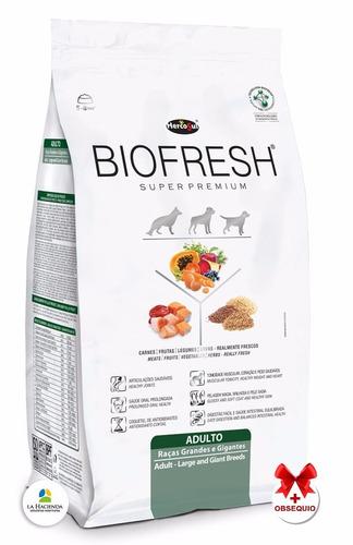 alimento biofresh adulto raza grande 7.5k + shampoo + 6pagos