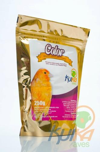 alimento color especifico para canrios rojos