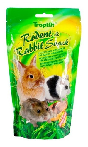 alimento conejos roedores tropifit rodent rabbit snack 110gr