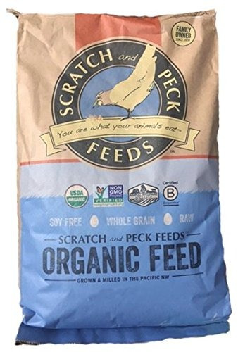 alimento de la capa orgánica naturalmente libre para pollos