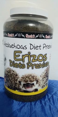 alimento exotic erizo dieta premium unico con tenebrio 2.5kg