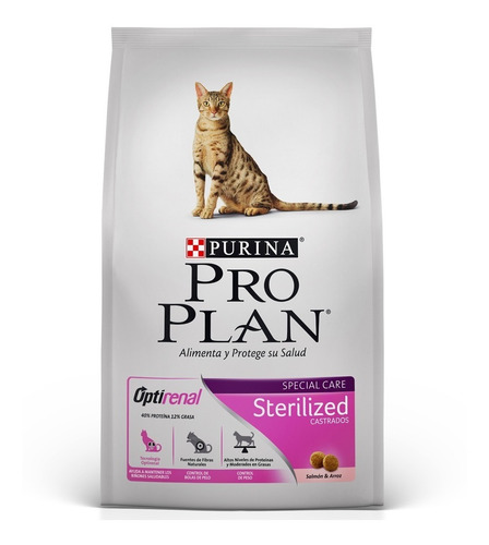 alimento gato pro plan cat sterilized 3kg